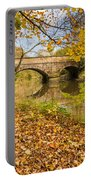 Hartford Bridge In Autumn Portable Battery Charger