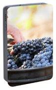 Harvest At Vineyard In Santa Cruz Portable Battery Charger