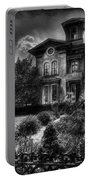 Haunted - Haunted House Portable Battery Charger by Mike Savad