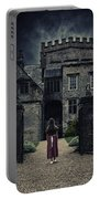 Haunted House Portable Battery Charger by Joana Kruse