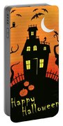 Haunted House Part One Portable Battery Charger by Linda Mears