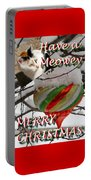 Have A Meowey Merry Christmas Portable Battery Charger