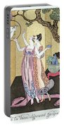 Have You Had A Good Dinner Jacquot? Portable Battery Charger by Georges Barbier