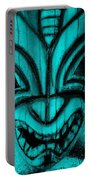 Hawaiian Aquamarine Mask Portable Battery Charger