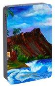 Hawaiian Homestead At Diamond Head Portable Battery Charger