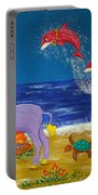 Hawaiian Lei Parade Portable Battery Charger
