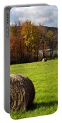 Hay Bales And Fall Colors Portable Battery Charger