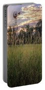 Hay Field Sunset Portable Battery Charger
