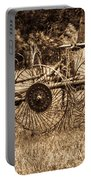 Hay Rake In Sepia 1 Portable Battery Charger