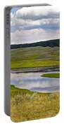 Hayden Valley In Yellowstone National Park-wyoming Portable Battery Charger