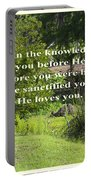 He Sanctified You Portable Battery Charger