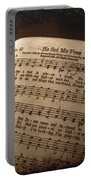 He Set Me Free - Hymnal Song Portable Battery Charger