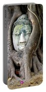 Head Of The Sandstone Buddha Portable Battery Charger