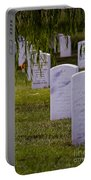 Headstones Of Arlington Cemetery Portable Battery Charger