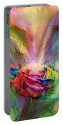 Healing Rose Portable Battery Charger by Carol Cavalaris