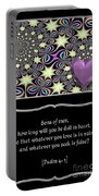 Heart And Love Design 14 With Bible Quote Portable Battery Charger
