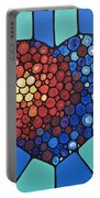 Heart Art - Love Conquers All 2  Portable Battery Charger by Sharon Cummings