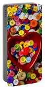 Heart Bowl With Buttons Portable Battery Charger
