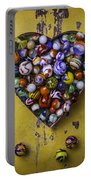 Heart Box Full Of Marbles Portable Battery Charger