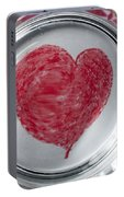 Heart In Mug Abstract 1 B Portable Battery Charger