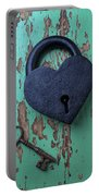 Heart Lock And Key Portable Battery Charger
