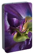 Heart Of A Purple Tulip Portable Battery Charger