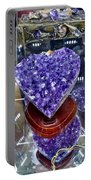 Heart Of Amethyst Portable Battery Charger