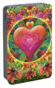 Heart Of Flowers Portable Battery Charger