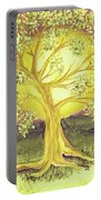 Heart Of Gold Tree By Jrr Portable Battery Charger