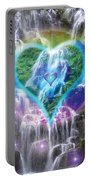 Heart Of Waterfalls Portable Battery Charger