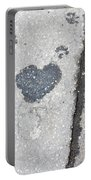 Heart On Sidewalk Portable Battery Charger
