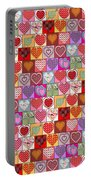 Heart Patches Portable Battery Charger