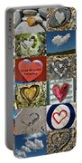 Heart Shape Collage  Portable Battery Charger
