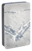 Heart Shape In Snow Portable Battery Charger