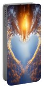 Heart Shape On Sunset Sky Portable Battery Charger