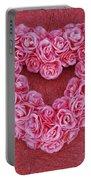 Heart-shaped Floral Arrangement Portable Battery Charger