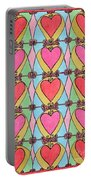 Hearts A'la Stained Glass Portable Battery Charger