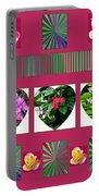 Hearts And Flowers 2 Portable Battery Charger