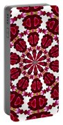 Hearts And Orchids Kaleidoscope Portable Battery Charger