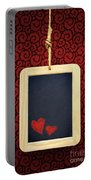 Hearts In Slate Portable Battery Charger