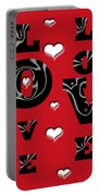 Hearts Of Love Portable Battery Charger