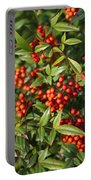 Heavenly Bamboo Red Berries Portable Battery Charger