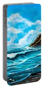 Heceta Head Lighthouse Oregon Coast Original Painting Forsale Portable Battery Charger