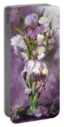 Heirloom Iris In Iris Vase Portable Battery Charger