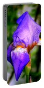 Heirloom Iris Purple Portable Battery Charger