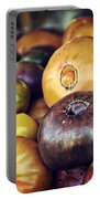 Heirloom Tomatoes At The Farmers Market Portable Battery Charger by Scott Norris