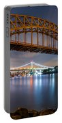 Hell Gate And Triboro Bridge By Night Portable Battery Charger