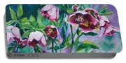 Hellebore Flowers Portable Battery Charger