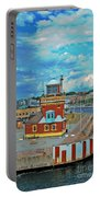 Helsingborg Lighthouse Hdr Portable Battery Charger