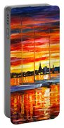 Helsinki Sailboats At Yacht Club Portable Battery Charger by Leonid Afremov